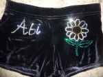 Personalised shorts with a flower design